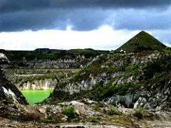 China clay pit and tip, 21 July